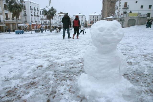 Las grandes nevadas de Cáceres - Nieve en Caceres